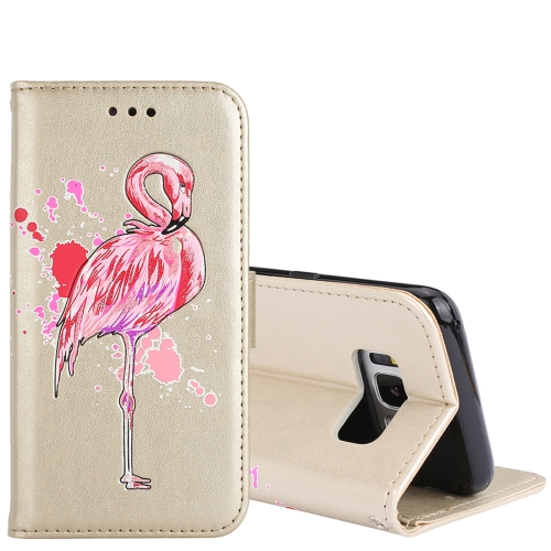 Buy For Samsung Galaxy S8+ Glittery Powder Flamingo Print Horizontal Flip Leather Case with Holder & Wallet & Card Slots & Photo Frame, Gold for $2.67 in SUNSKY store