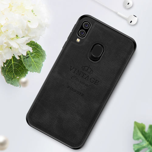 PINWUYO Shockproof Waterproof Full Coverage PC + TPU + Skin Protective Case for Galaxy A40 (Black)
