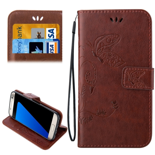 Buy For Samsung Galaxy S7 Edge / G935 Crazy Horse Texture Printing Horizontal Flip Leather Case with Holder & Card Slots & Wallet & Lanyard, Coffee for $2.44 in SUNSKY store
