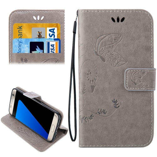 Buy For Samsung Galaxy S7 Edge / G935 Crazy Horse Texture Printing Horizontal Flip Leather Case with Holder & Card Slots & Wallet & Lanyard, Grey for $2.44 in SUNSKY store