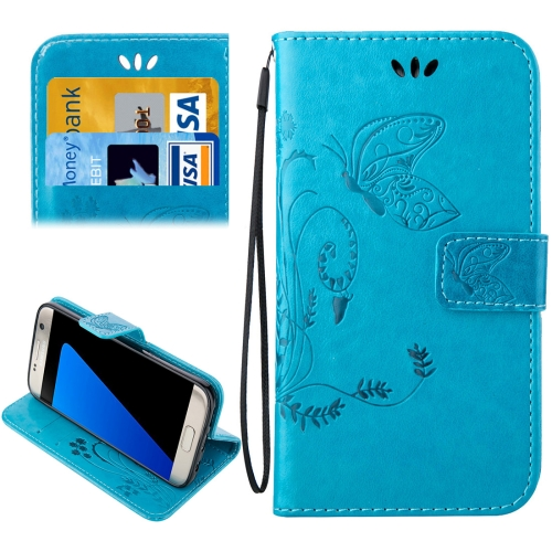Buy For Samsung Galaxy S7 Edge / G935 Crazy Horse Texture Printing Horizontal Flip Leather Case with Holder & Card Slots & Wallet & Lanyard, Blue for $2.44 in SUNSKY store