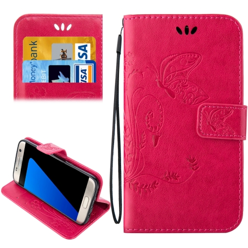 Buy For Samsung Galaxy S7 Edge / G935 Crazy Horse Texture Printing Horizontal Flip Leather Case with Holder & Card Slots & Wallet & Lanyard, Magenta for $2.44 in SUNSKY store