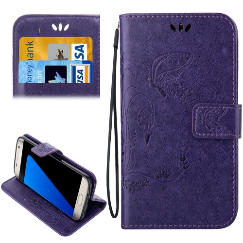 Buy For Samsung Galaxy S7 Edge / G935 Crazy Horse Texture Printing Horizontal Flip Leather Case with Holder & Card Slots & Wallet & Lanyard, Purple for $2.44 in SUNSKY store