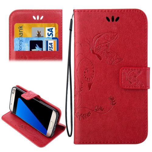 Buy For Samsung Galaxy S7 Edge / G935 Crazy Horse Texture Printing Horizontal Flip Leather Case with Holder & Card Slots & Wallet & Lanyard, Red for $2.44 in SUNSKY store
