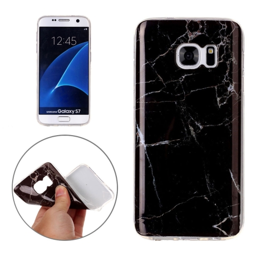 Buy For Samsung Galaxy S7 / G930 Black Marbling Pattern Soft TPU Protective Back Cover Case for $1.20 in SUNSKY store