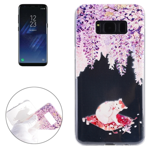 Buy For Samsung Galaxy S8 + / G955 Purple Trojan Cat Pattern Soft TPU Protective Case for $1.48 in SUNSKY store