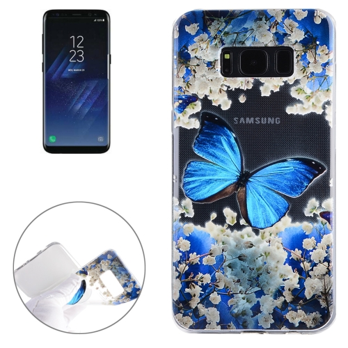Buy For Samsung Galaxy S8 + / G955 Blue Butterfly Pattern Soft TPU Protective Case for $1.41 in SUNSKY store