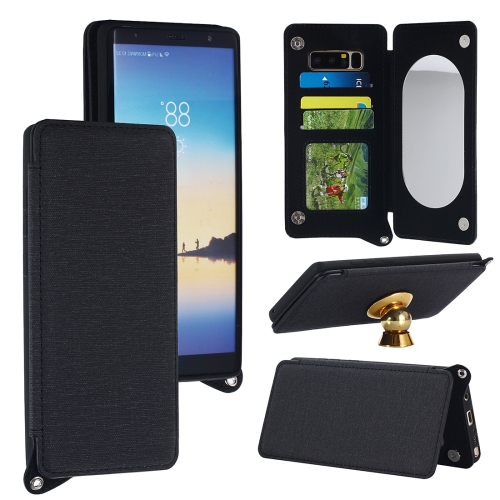 Buy For Samsung Galaxy Note 8 Protective Back Case Cover with Card Slot & Photo Frame & Holder & Mirror, Black for $3.69 in SUNSKY store