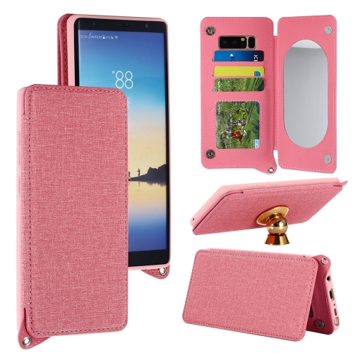 Buy For Samsung Galaxy Note 8 Protective Back Case Cover with Card Slot & Photo Frame & Holder & Mirror, Pink for $3.69 in SUNSKY store