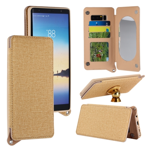 Buy For Samsung Galaxy Note 8 Protective Back Case Cover with Card Slot & Photo Frame & Holder & Mirror, Gold for $3.69 in SUNSKY store