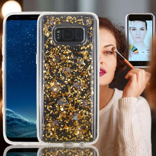 Buy For Samsung Galaxy Note 8 Anti-Gravity Nano-suction Technology Dropproof Sticky Selfie Glitter Sequins Pattern TPU Protective Back Cover Case, Gold for $2.91 in SUNSKY store