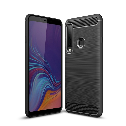 Brushed Texture Carbon Fiber Soft TPU Case for Galaxy A9 (2018) / A9s(Black)