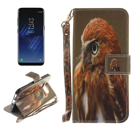 Buy For Samsung Galaxy S8 Eagle Pattern Horizontal Flip Leather Case with Holder & Card Slots & Wallet & Lanyard for $2.53 in SUNSKY store