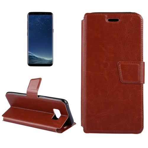 Buy For Samsung Galaxy S8 + / G955 Retro Crazy Horse Texture Horizontal Flip Leather Case with Holder & Card Slots, Brown for $2.17 in SUNSKY store