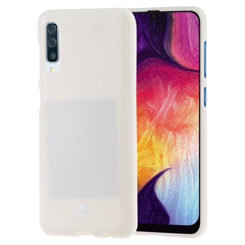 MERCURY GOOSPERY PEARL JELLY TPU Anti-fall and Scratch Case for Galaxy A50 (White)