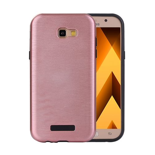 Buy For Samsung Galaxy A7, 2017 Metal Brushed Texture Protective Back Case (Rose Gold) for $2.16 in SUNSKY store