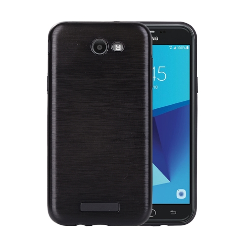 Buy For Samsung Galaxy J7, 2017 (US Version) Metal Brushed Texture Protective Back Case, Black for $2.16 in SUNSKY store