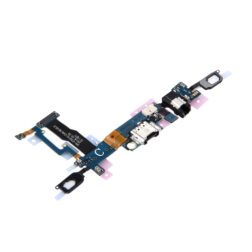 Buy iPartsBuy for Samsung Galaxy C5 Pro / C5010 Charging Port + Home Button + Earphone Jack Flex Cable for $6.10 in SUNSKY store