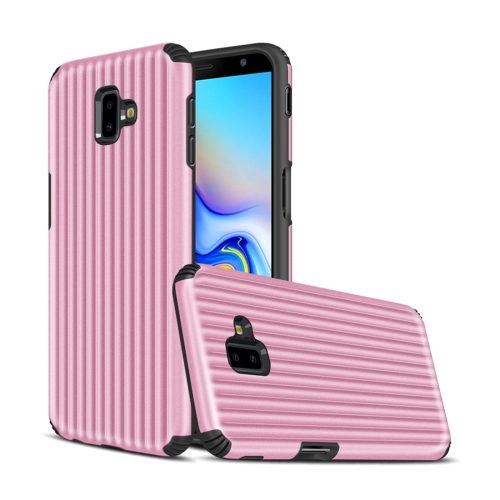 Angibabe Travel Box Shape TPU + PC Protective Case for Galaxy J6 Plus (Pink)