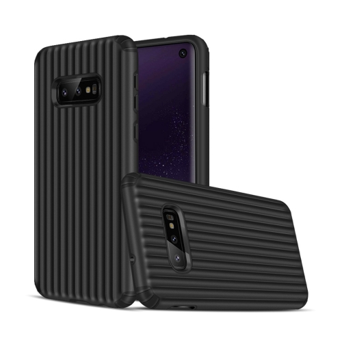 Angibabe Travel Box Shape TPU + PC Protective Case for Galaxy S10 E (Black)