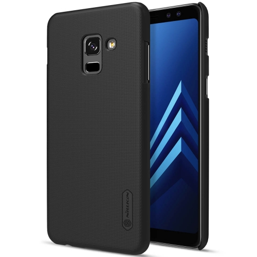 NILLKIN for Galaxy A8 (2018) Concave-convex Texture PC Protective Back Cover Case (Black) nillkin protective pu leather pc case cover for samsung galaxy alpha g850f black