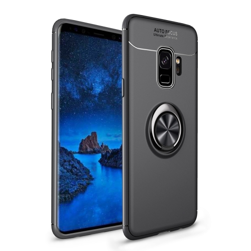 Shockproof TPU Case for Galaxy S9+, with Holder (Black)