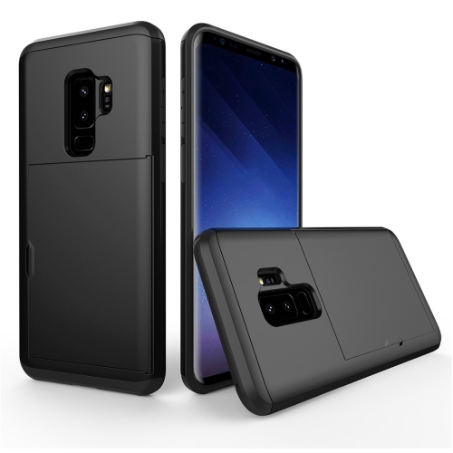 For Samsung Galaxy S9+ Detachable TPU + PC Dropproof Protective Back Cover Case with Card Slot, Black