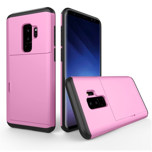 Buy For Samsung Galaxy S9+ Detachable TPU + PC Dropproof Protective Back Cover Case with Card Slot, Pink for $2.28 in SUNSKY store
