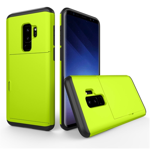Buy For Samsung Galaxy S9+ Detachable TPU + PC Dropproof Protective Back Cover Case with Card Slot, Green for $2.28 in SUNSKY store