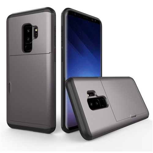 Buy For Samsung Galaxy S9+ Detachable TPU + PC Dropproof Protective Back Cover Case with Card Slot, Grey for $2.28 in SUNSKY store