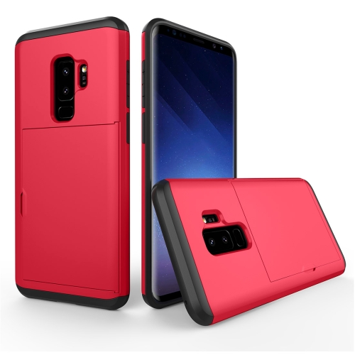 Buy For Samsung Galaxy S9+ Detachable TPU + PC Dropproof Protective Back Cover Case with Card Slot, Red for $2.28 in SUNSKY store