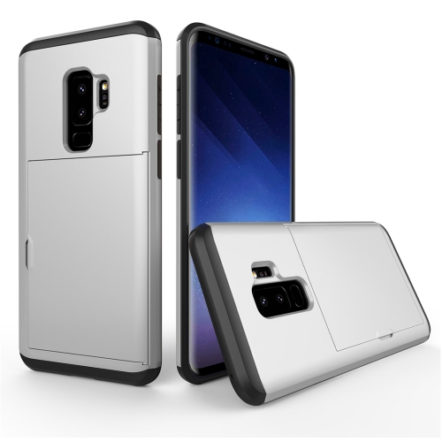 Buy For Samsung Galaxy S9+ Detachable TPU + PC Dropproof Protective Back Cover Case with Card Slot, Silver for $2.28 in SUNSKY store