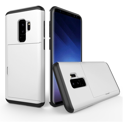 Buy For Samsung Galaxy S9+ Detachable TPU + PC Dropproof Protective Back Cover Case with Card Slot, White for $2.28 in SUNSKY store