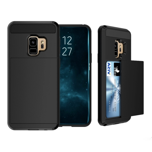 Buy For Samsung Galaxy S9 Detachable Dropproof Protective Back Cover Case with Slider Card Slot, Black for $2.28 in SUNSKY store