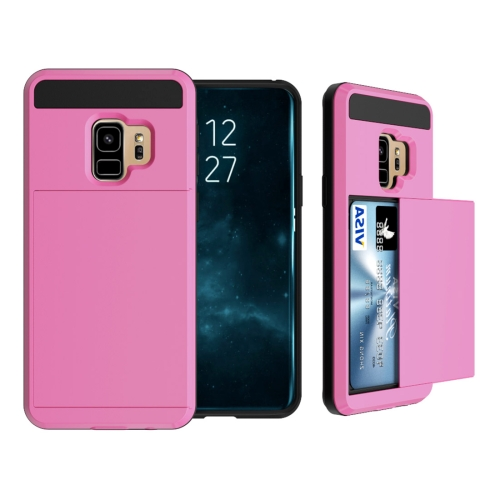 Buy For Samsung Galaxy S9 Detachable Dropproof Protective Back Cover Case with Slider Card Slot, Pink for $2.28 in SUNSKY store