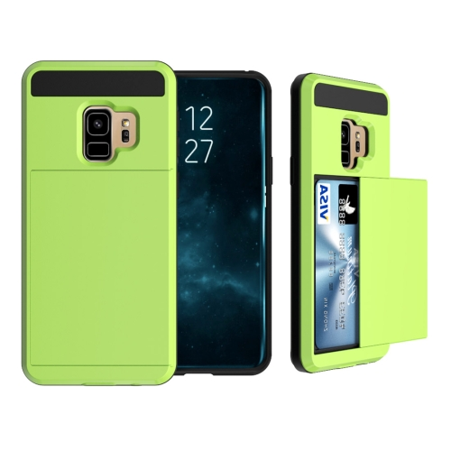Buy For Samsung Galaxy S9 Detachable Dropproof Protective Back Cover Case with Slider Card Slot, Green for $2.28 in SUNSKY store