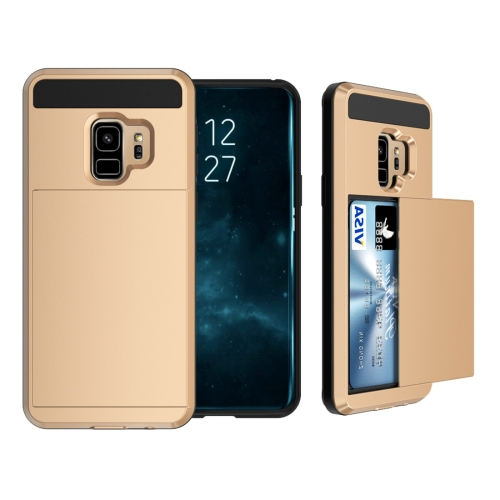 Buy For Samsung Galaxy S9 Detachable Dropproof Protective Back Cover Case with Slider Card Slot, Gold for $2.28 in SUNSKY store