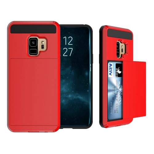 Buy For Samsung Galaxy S9 Detachable Dropproof Protective Back Cover Case with Slider Card Slot, Red for $2.28 in SUNSKY store
