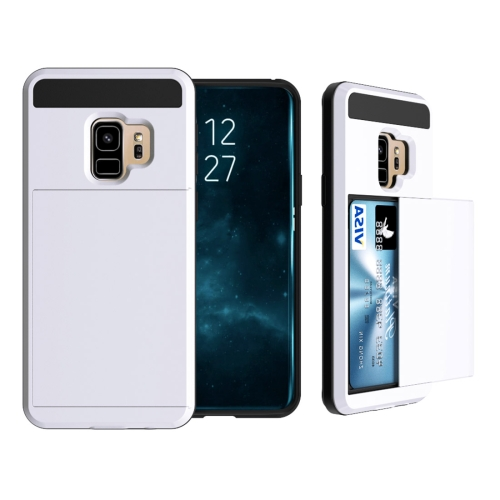 Buy For Samsung Galaxy S9 Detachable Dropproof Protective Back Cover Case with Slider Card Slot, White for $2.28 in SUNSKY store