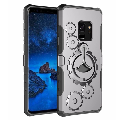 Buy For Samsung Galaxy S9 Gearwheel Style Multi-function Outdoor Sports Protective Back Cover Case With 360 Degree Rotatable Holder & Armband, Grey for $4.46 in SUNSKY store