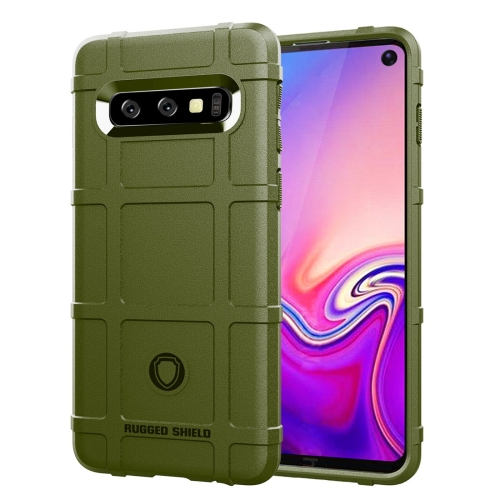 Full Coverage Shockproof TPU Case for Galaxy S10 (Army Green)