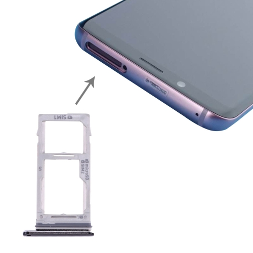 for Galaxy S9+ / S9 SIM & SIM / Micro SD Card Tray(Black)
