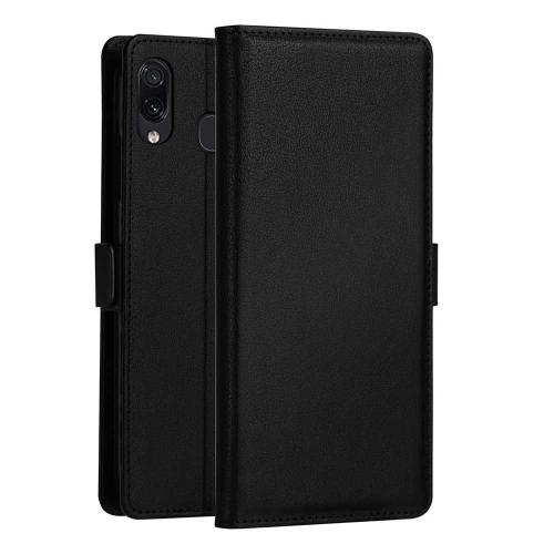 DZGOGO MILO Series PC + PU Horizontal Flip Leather Case for Galaxy A40, with Holder & Card Slot & Wallet (Black)