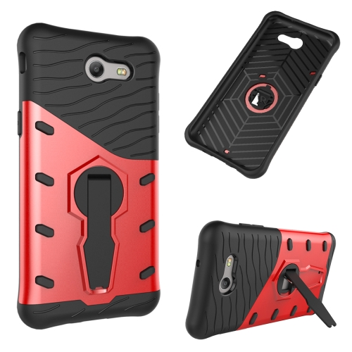 Buy For Samsung Galaxy J3, 2017 / J3 Prime (US Version) Shock-Resistant 360 Degree Spin Tough Armor TPU+PC Combination Case with Holder, Red for $2.31 in SUNSKY store