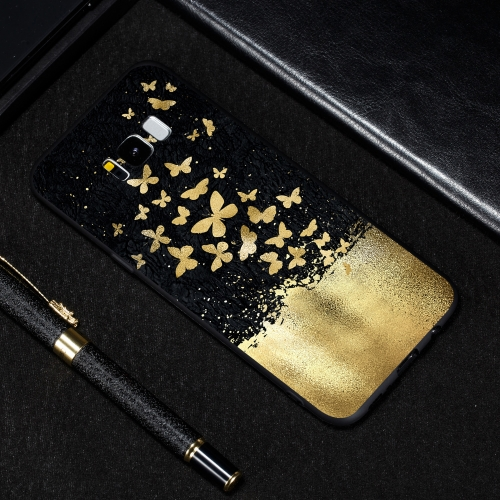 Gold Butterfly Painted Pattern Soft TPU Case for Galaxy S8