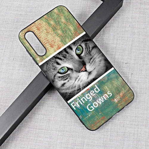 Cat Painted Pattern Soft TPU Case for Galaxy A50
