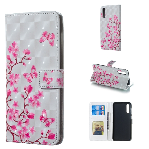 Butterfly Love Flower Pattern 3D Horizontal Flip Leather Case for Galaxy A50, with Holder & Card Slots & Photo Frame & Wallet