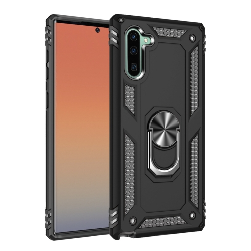 Armor Shockproof TPU + PC Protective Case for Galaxy Note 10, with 360 Degree Rotation Holder (Black)