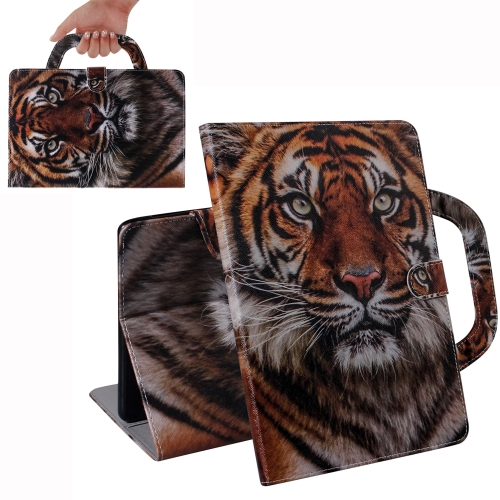 Tiger Pattern Horizontal Flip Leather Case for Galaxy Tab A 10.1 (2019) T510 / T515, with Holder & Card Slot & Wallet