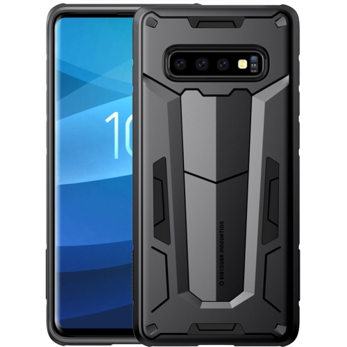 NILLKIN Tough Defener II Case Shockproof TPU + PC Case for Galaxy S10 (Black)